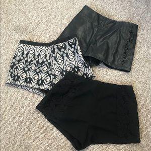 Pants - High Waist Shorts 🖤 3 piece bundle